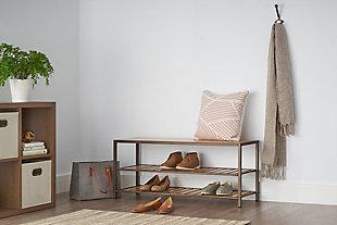 TRINITY 3-Tier Bamboo Shoe Bench, , rollover