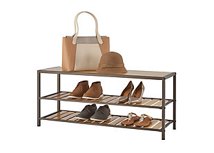 TRINITY 3-Tier Bamboo Shoe Bench, , large