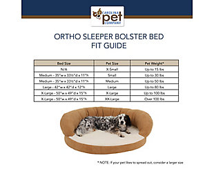 Ortho Small Sleeper Bolster Pet Bed, Chocolate, large