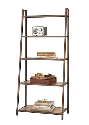 TRINITY 5-Tier Leaning Bamboo Rack, , large