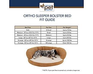 Ortho Medium Sleeper Bolster Pet Bed, Chocolate, large