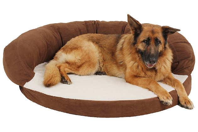 Ortho Large Sleeper Bolster Pet Bed, , large