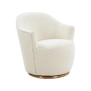 TOV Furniture Skyla Boucle Swivel Chair, , large
