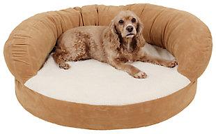 Ortho Small Sleeper Bolster Pet Bed, Caramel, rollover