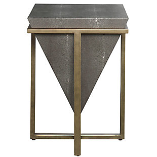 Uttermost Bertrand Shagreen Accent Table, , large