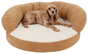 Ortho Small Sleeper Bolster Pet Bed, Caramel, rollover