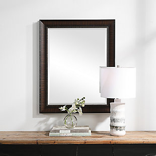 Uttermost Wythe Burnished Wood Mirror, , rollover