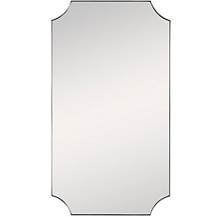 Uttermost Lennox Brass Scalloped Corner Mirror, , large