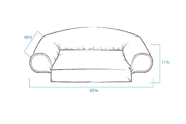 Ortho Medium Sleeper Comfort Couch® Pet Bed, Sage, large
