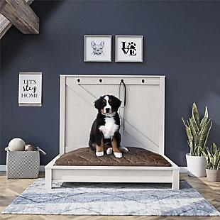 Ollie & Hutch Farmington Dog Bed, Ivory Pine, Ivory Pine, rollover