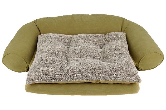 Ortho Large Sleeper Comfort Couch® Pet Bed, Sage, large