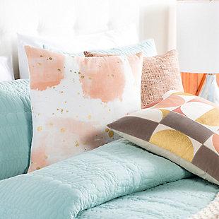 Surya Sheana Peach Abstract Pillow Cover, Peach, rollover