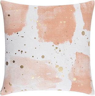 Surya Sheana Peach Abstract Pillow Cover, Peach, large