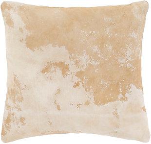 Surya Kansas Leather Organic Pillow, , rollover