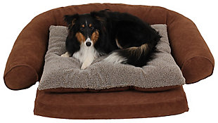 Ortho Small Sleeper Comfort Couch® Pet Bed, Chocolate, rollover