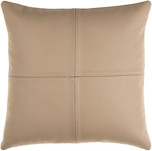 Surya Sheffield Leather Pillow, , large