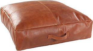 Surya Barrington Leather Floor Pillow, , rollover