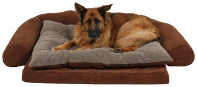 Ortho Large Sleeper Comfort Couch® Pet Bed, Chocolate, large