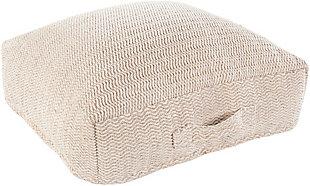 Surya Palmetto Floor Pillow, Beige, large