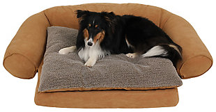 Ortho Small Sleeper Comfort Couch® Pet Bed, Caramel, rollover