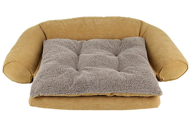 Ortho Small Sleeper Comfort Couch® Pet Bed, Caramel, large