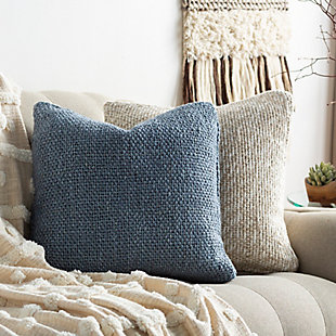 Surya Terry Pillow Cover, Denim, rollover