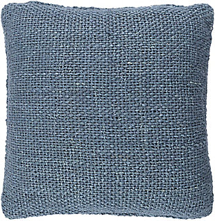 Surya Terry Pillow Cover, Denim, large