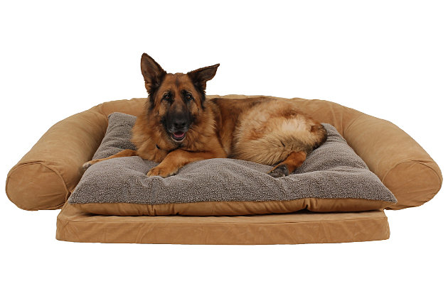Ortho Large Sleeper Comfort Couch® Pet Bed, Caramel, large