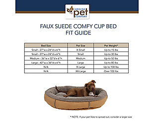 Berber Small Round Comfy Cup® Pet Bed, Red, large
