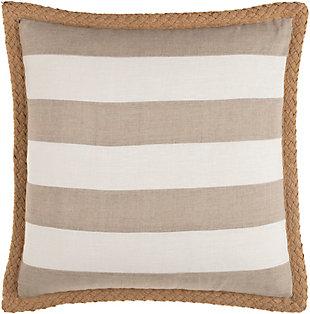 Surya Warrick Striped Pillow Cover, Cream, rollover