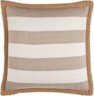 Surya Warrick Striped Pillow Cover, Cream, large