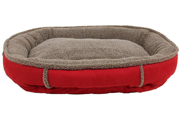 Berber Large Round Comfy Cup® Pet Bed, , large