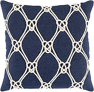Surya Marion Coastal Knot Pillow Cover, , rollover