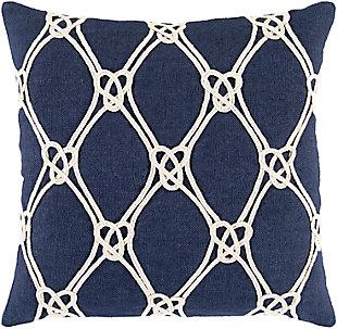 Surya Marion Coastal Knot Pillow Cover, , large