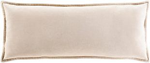 Surya Cotton Velvet Pillow Cover, Beige, rollover