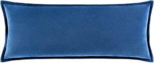 Surya Cotton Velvet Pillow Cover, Navy, large