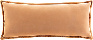 Surya Cotton Velvet Pillow Cover, Camel, rollover