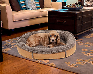 Berber Small Round Comfy Cup® Pet Bed, Caramel, rollover