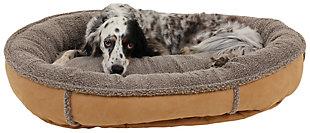 Berber Medium Round Comfy Cup® Pet Bed, Caramel, large