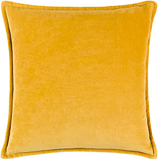 Surya Cotton Velvet Pillow Cover, Mustard, large