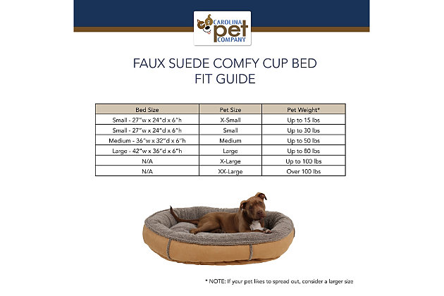 Berber Large Round Comfy Cup® Pet Bed, Caramel, large