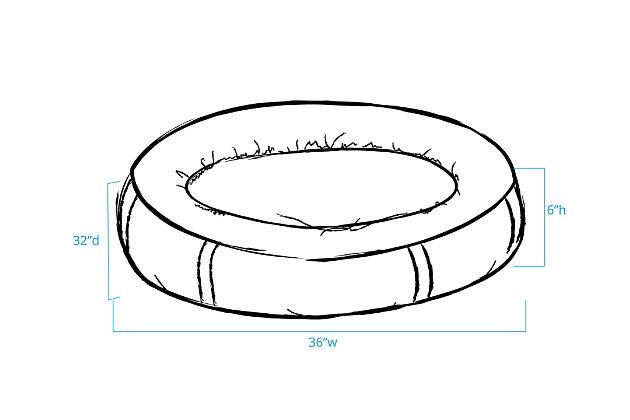 Berber Medium Round Comfy Cup® Pet Bed, Chocolate, large