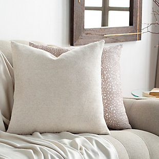 Surya Sallie Pillow Cover, Cream, rollover