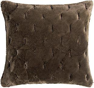 Surya Kathleen Faux Fur Pillow, , large