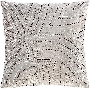 Surya Kenzo Pillow Cover, Light Gray, large