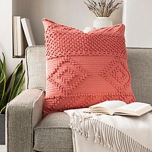 Surya Merdo Pillow Cover, Coral, rollover