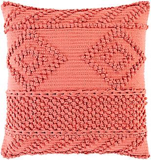 Surya Merdo Pillow Cover, Coral, large