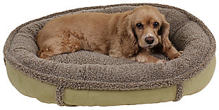 Berber Small Round Comfy Cup® Pet Bed, Sage, rollover