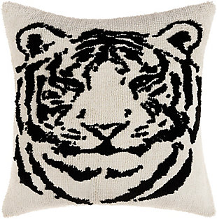 Surya Sheldon Pillow Cover, Black, rollover
