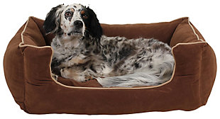 Kuddle Small Lounge Pet Bed, Chocolate, rollover